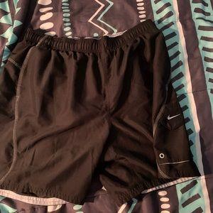 Nike black swim suit XL